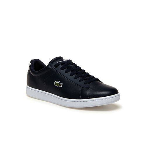Lacoste CARNABY EVO CONTRAST ACCENT LEATHER TRAINERS 37-33SPM1002003 dc4b3431006