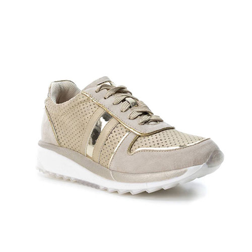 6d8b155f923 XTI Γυναικεία Sneakers B3D Χρυσά, παπουτσια, παπουτσια γυναικεια, γυναικεια  παπουτσια, μποτακια γυναικεια