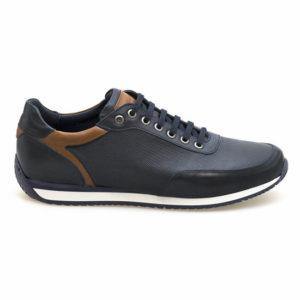 KRICKET Sneakers Ανδρικά Δερμάτινα 324 (ΜΠΛΕ)