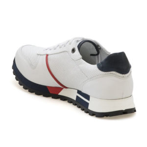 KRICKET Sneakers Ανδρικά Δερμάτινα με Σταμπωτό Σχέδιο 331 (ΛΕΥΚΟ)