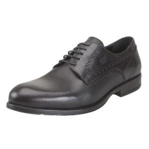 Boxer Ανδρικά Παπούτσια Δερμάτινα Δετά L 6003 (ΜΑΥΡΟ)