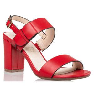 ENVIE Γυναικεία Πέδιλα Block Heel V64-09923-30 (RED)