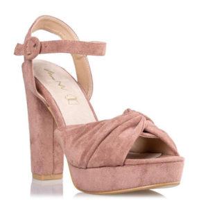 ENVIE Γυναικεία Πέδιλα Block Heel Suede V31-09679-90 (NUDE)