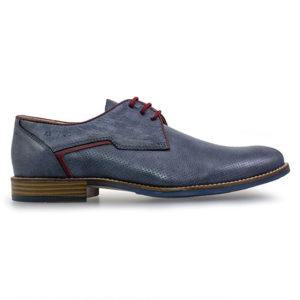 ccf1289c199 Softies Ανδρικά Δερμάτινα Δετά Παπούτσια 6950 (Navy), eshop, papoutsia,  παπουτσια,