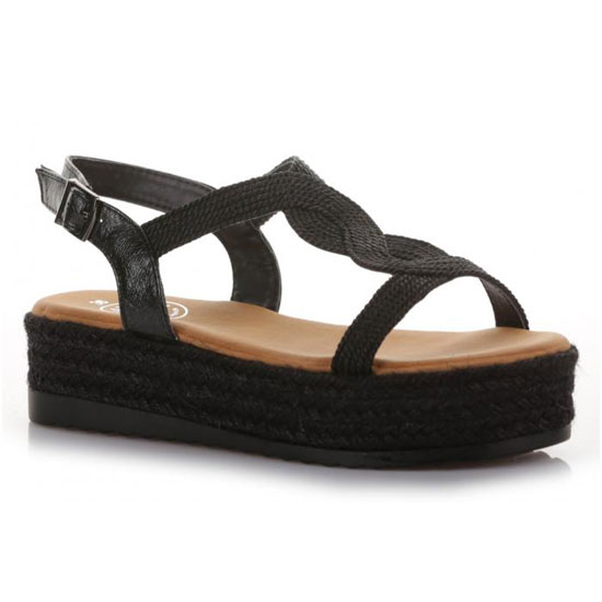 e78c65fe296 Seven Γυναικεία Flatforms 18093-B (Μαύρο) | ShoeBoutique