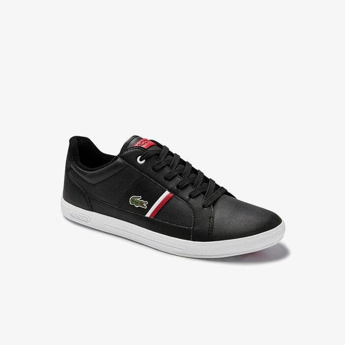 Lacoste Ανδρικά Sneakers EUROPA 0120 1 SMA BLK/WHT 7-40SMA0007312 Μαύρο