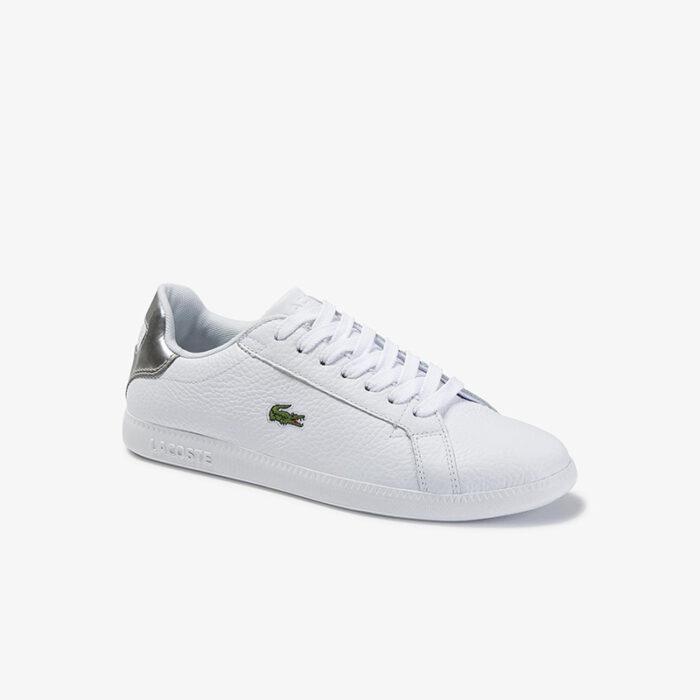 Lacoste Γυναικεία Sneakers Graduate 120 1 SFA 7-39SFA0015108 WHT/SLV