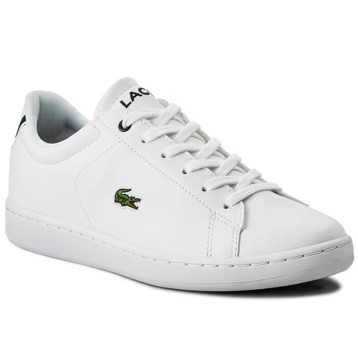 Lacoste Sneakers 7-33SPJ1003042 CARNABY EVO BL 1 SPJ WHT/NVY Λευκό